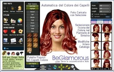 cambiare il colore dei capelli online - Cambiare il proprio aspetto online modificare capelli occhi Max89x