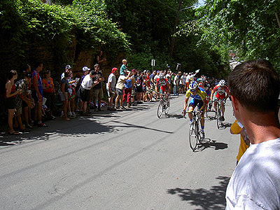 Racers Grind up the Stillwater Hill