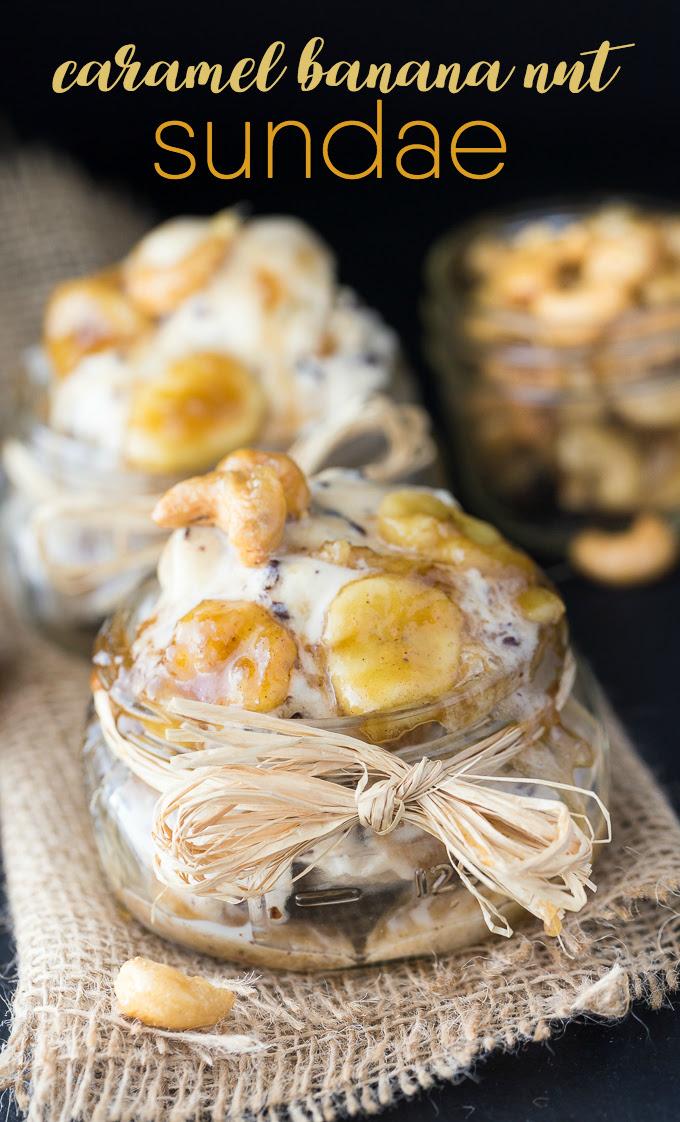 Caramel Banana Nut Sundae