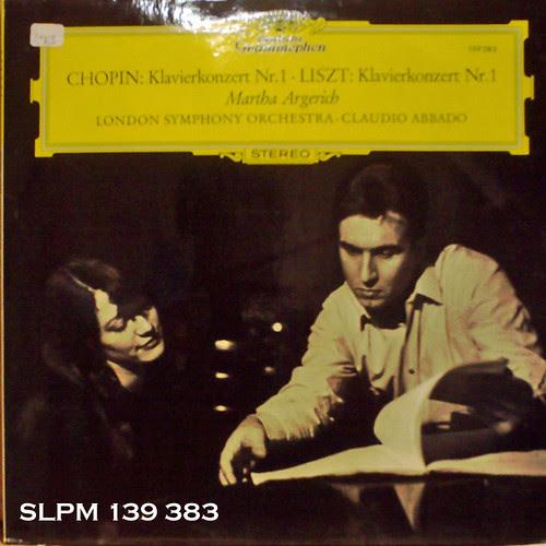美盤!!美ジャケの独チューリップ・ラベル。瑞々しいアルゲリッチと生気溢れるアバドのショパン:協奏曲第1番 流石にお値段は高め。