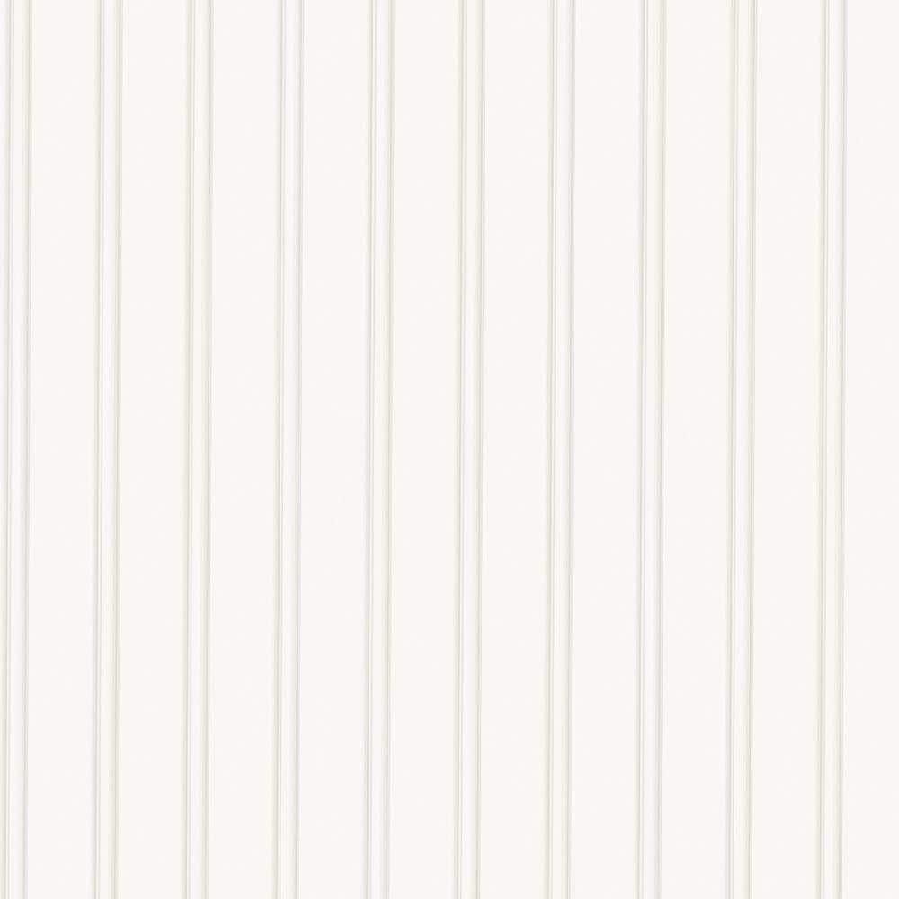 Super Fresco 56 sq. ft. 1 Double Roll White Beadboard Paintable Wallpaper-15274 - The Home Depot