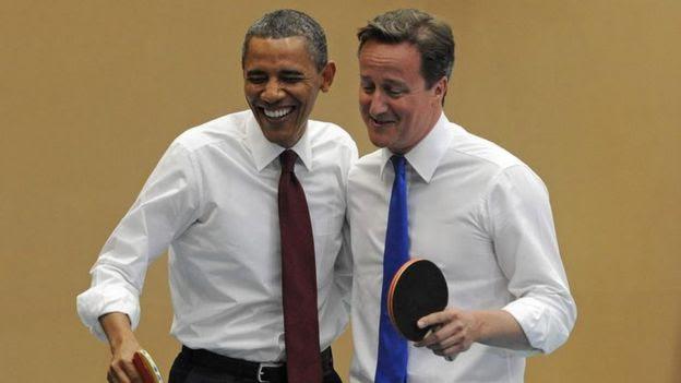 Barack Obama e David Cameron