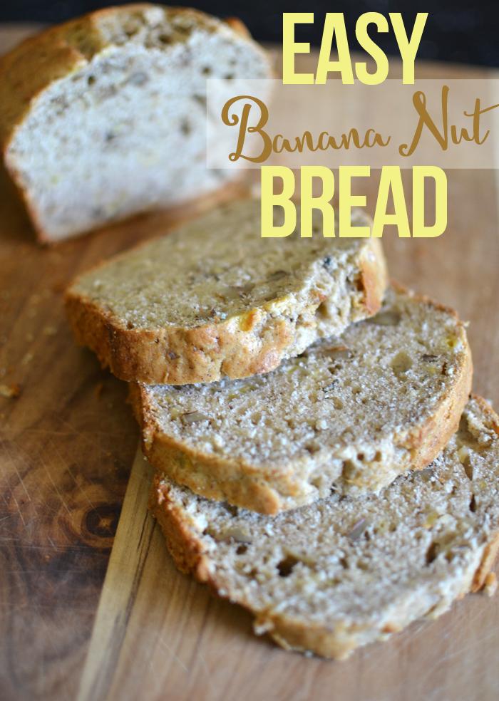 Easy Banana Nut Bread -- Tatertots and Jello