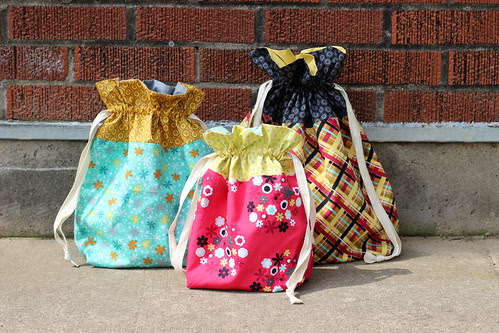 Nordika Drawstring Bags by Jeni Baker