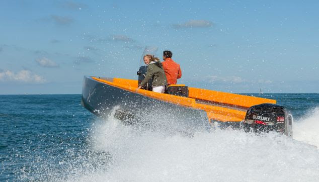 Making a splash: The luxury boat can fit 10 people on board