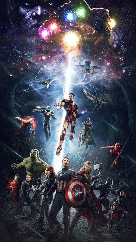 papersco iphone wallpaper  marvel infinitywar avengers hero art
