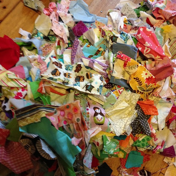 My name is Sarah and I have a fabric problem  just turned my scrap bin out on the floor to look for something and realised how huge it is (the fabric and the problem!)