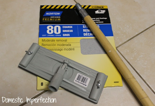 Pole Sander - prepping to paper bag concrete floors