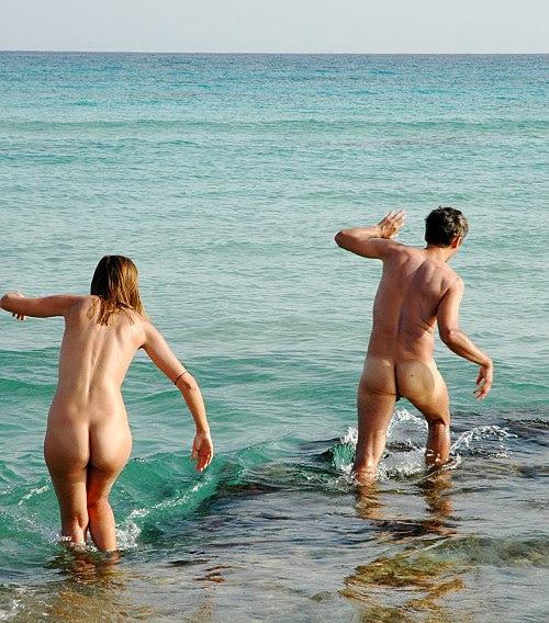 Nudists at Formentera beach 0240