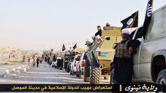 ISIS Holds Parade With Captured US Military Vehicles ISIS Mosul Parade 1 thumb 560x315 3322