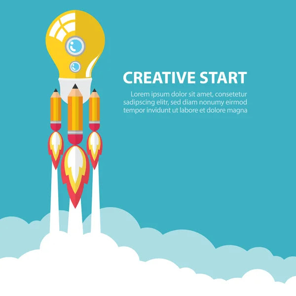 Creativo en marcha — Vector de stock #47888693