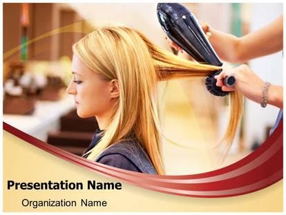 Hair Salon PowerPoint Template Background   SubscriptionTemplates.com