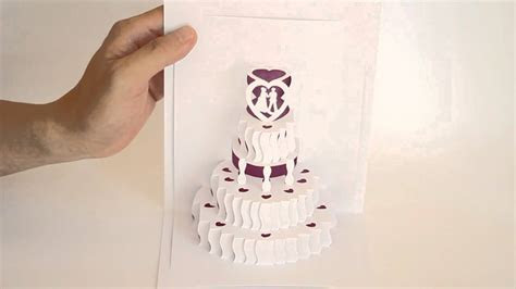 POP UP WEDDING CAKE   YouTube