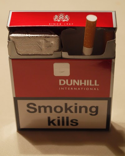 DUNHILL INTERNATIONAL, Smoking KILLS! 1.29.11
