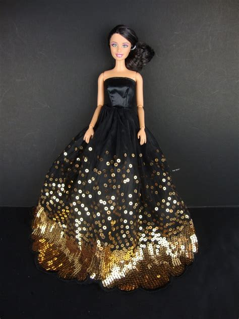 luxury black wedding party dress gold sequins clothes