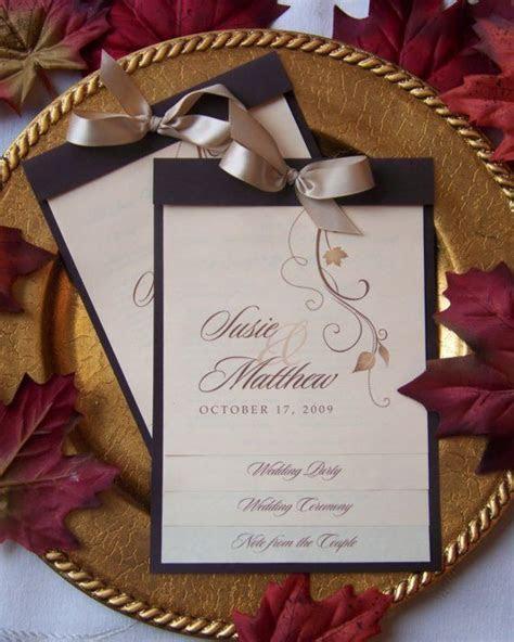 Best 25  Fall wedding programs ideas on Pinterest