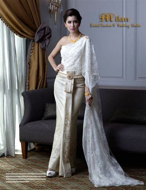 thai wedding dress   Traditional Thai Dresses   Pinterest