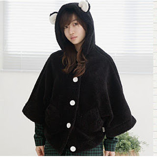 Ear-Accent Hooded Capelet