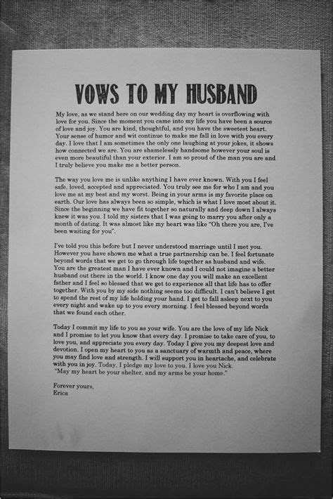 wedding vows to husband best photos   He asked .and I