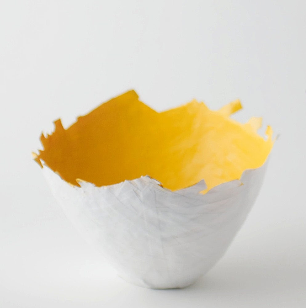 Medium Yellow Color Burst Bowl