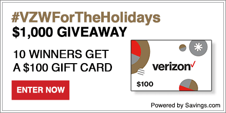 Verizon Wireless $1,000 Giveaway! Ends 12/21