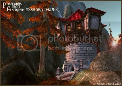 Postcards of Azeroth: Azshara Tower, by Rioriel Ail'thera