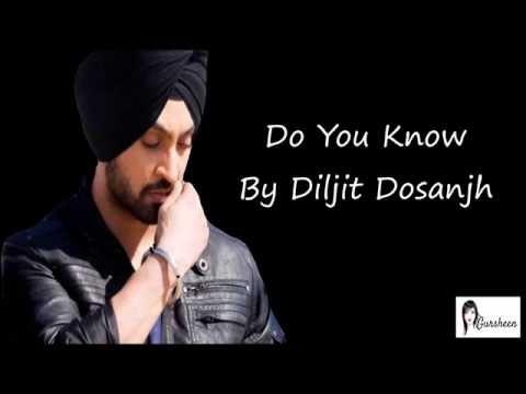 Do You Know Lyrics - Diljit Dosanjh/डु यु नो लिरीक्स