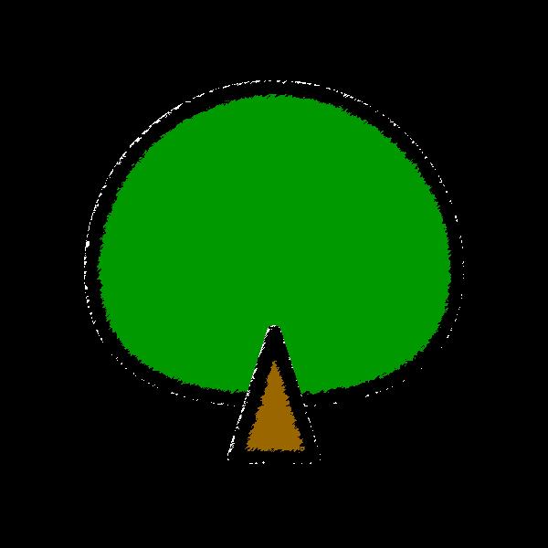 手書き風でかわいい木の無料イラスト商用フリー オイデ43