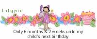 恬恬Kids Birthday tickers