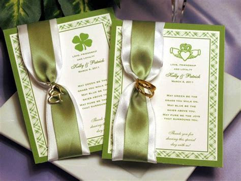 Claddagh Irish Seed Packet Favors for Weddings Bridal