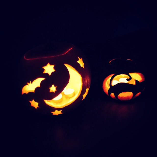 Getting creative with the pumpkins in our house.