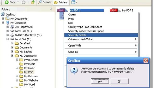 يمكن دائماً استخدام برامج لاستعادة الملفات المحذوفة في ويندوز