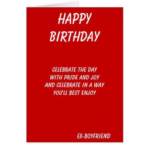 The best in everything-ex-boyfriend birthday cards