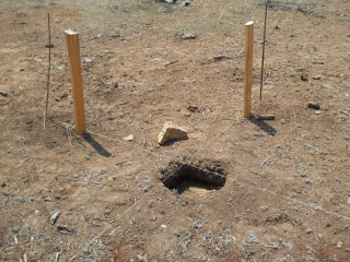 Porch Post Hole Dug and Brace Supports Set