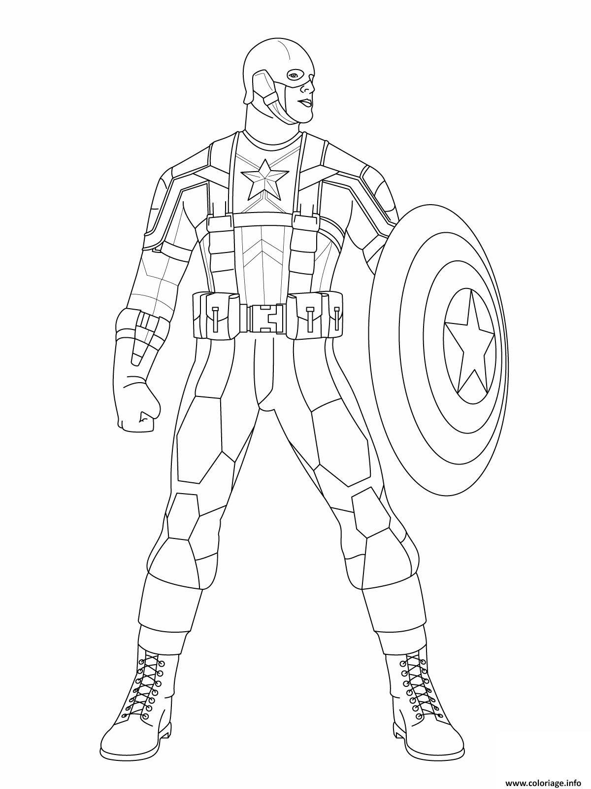 Coloriage Colorier Captain America 11 Jecoloriecom