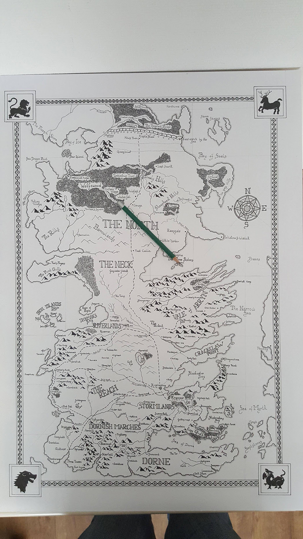 Hand Drawn Westeros Map by dvg94