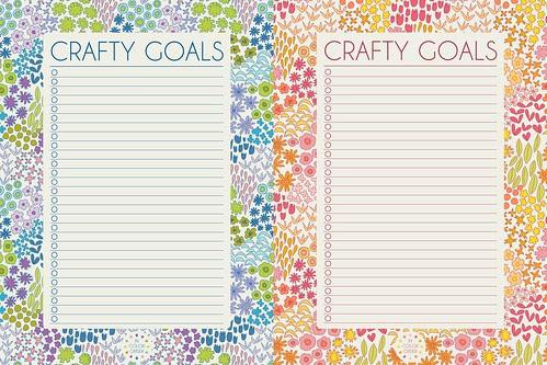 Dreamin Vintage 2014 Printable Crafty Goals by Jeni Baker