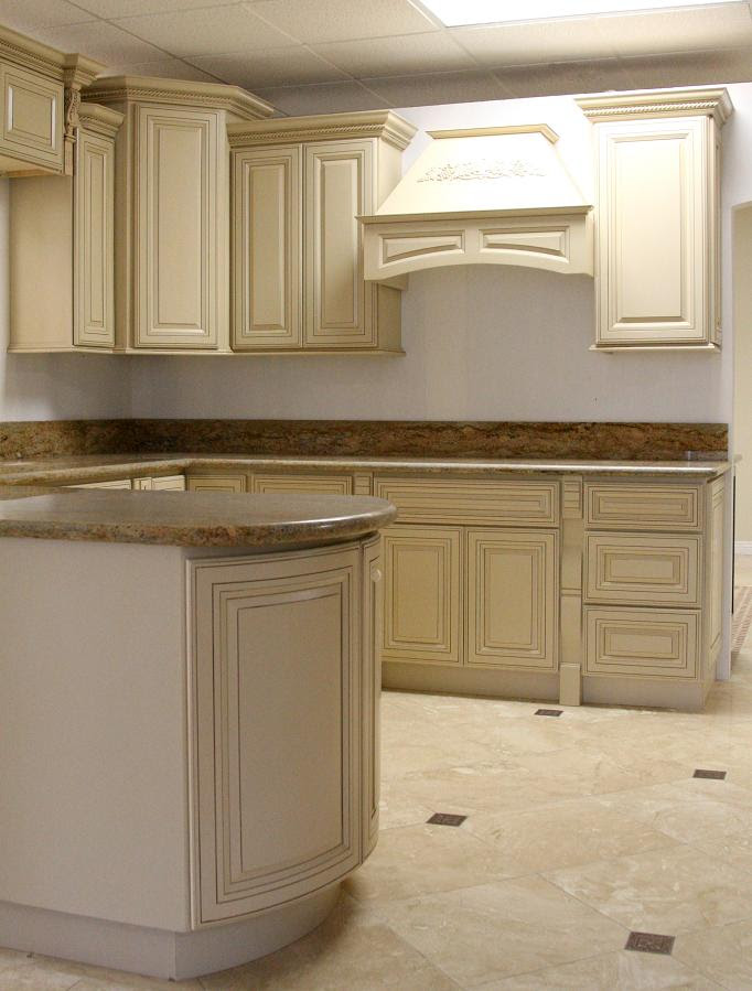 Kitchen Cabinets-antique White Glaze - Buy Kitchen Cabinet ...