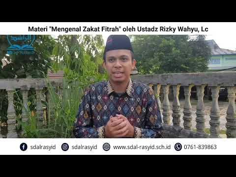 """Materi """"Mengenal Zakat Fitrah"""" oleh Ustadz Rizky Wahyu, Lc"""
