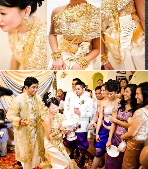 Cambodian's traditional wedding outfits   Khmer style