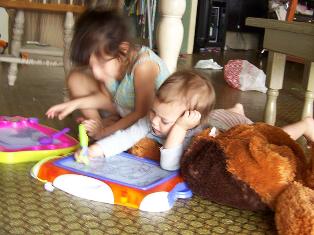 Ava and Sophia in the morning
