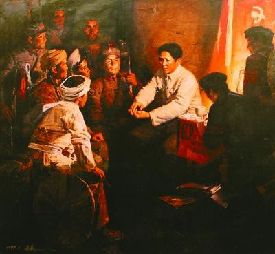 "《毛主席在连队建党》 高泉 - ""Party Chairman Mao established Party in the company"" by Gao Quan"
