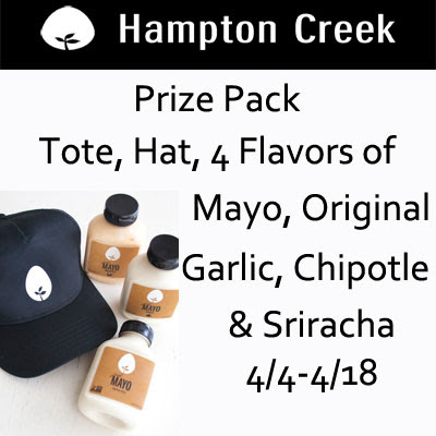 Enter the Hampton Creek Mayo Giveaway. Ends 4/18
