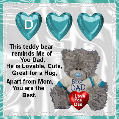 This Teddy Reminds Me Of You. Free For Your Dad eCards