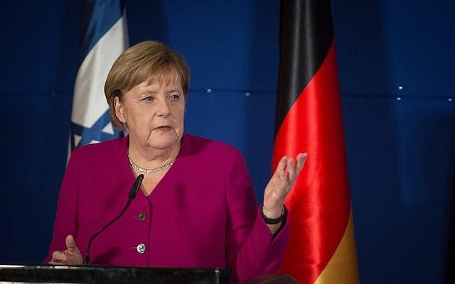 Angela Merkel chegou hoje a Israel para visita de 24 horas