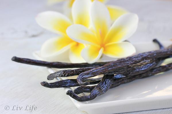 Vanilla Beans with Plumeria