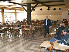 Empty inside room in Damascus cafe