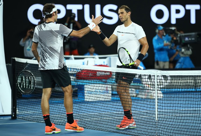 Nadal x Federer, final do Aberto da Austrália (Foto: Clive Brunskill / Staff / Getty Images)