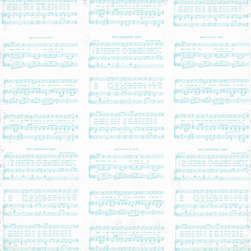 8 Christmas Sheet Music WHITE & TURQUOISE Vintage GF 12 and a half inch SQ 350dpi mel stampz