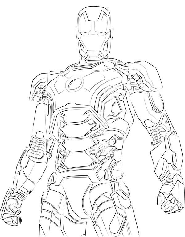Ironman Hulk Buster - Free Colouring Pages